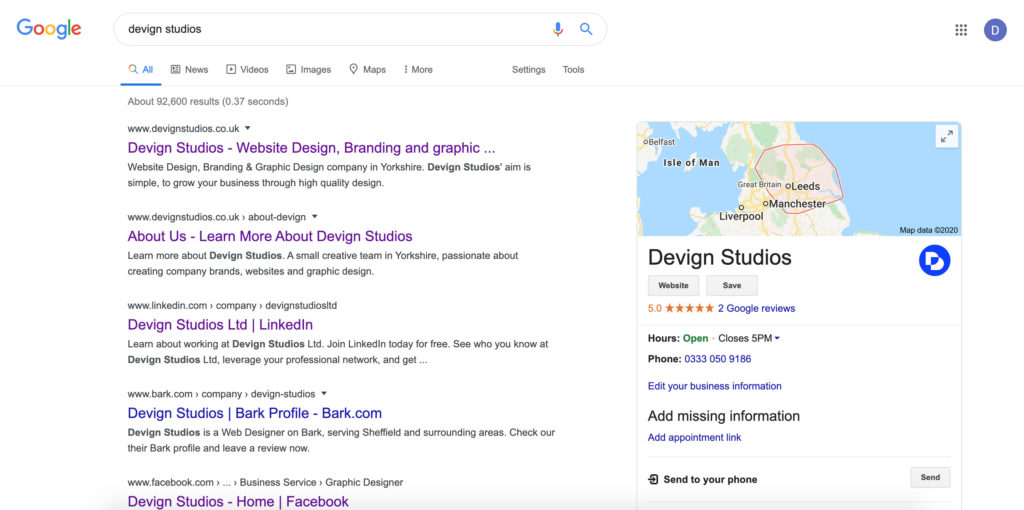 Devign Studios Google Search Results