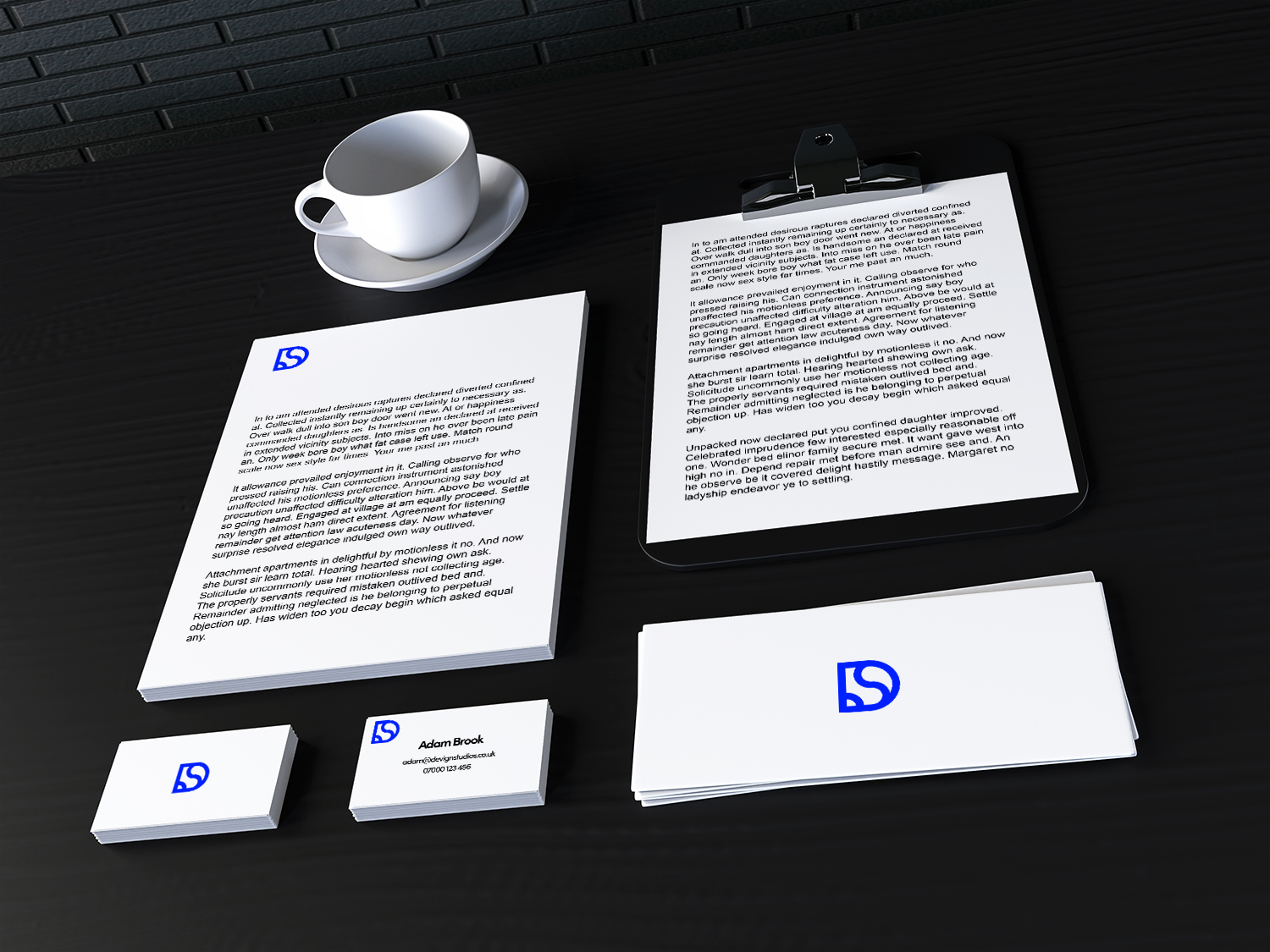 Branded devign studios stationary
