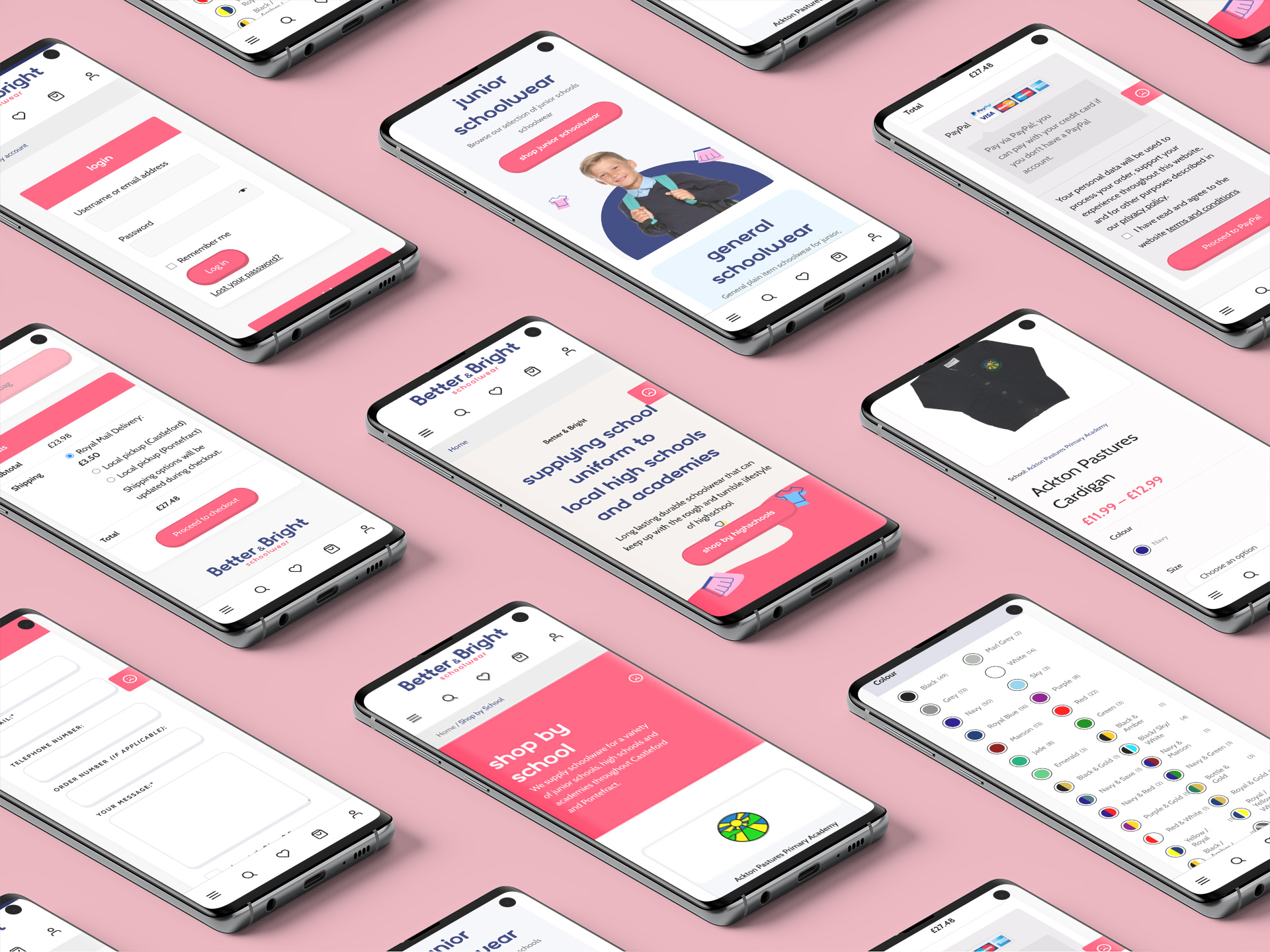 Better and Bright website displayed across various mobile screens