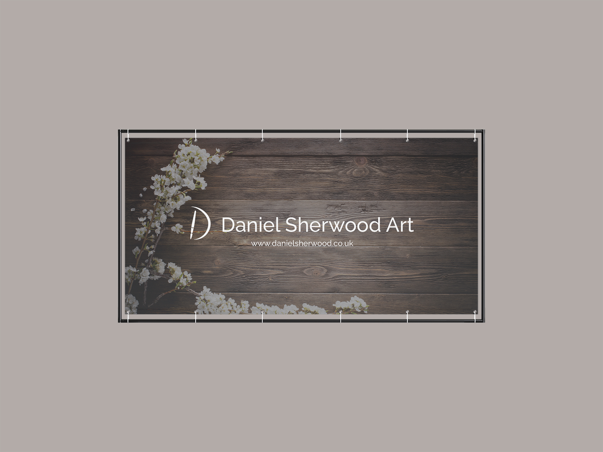 Daniel Sherwood Art - Exhibition banner design